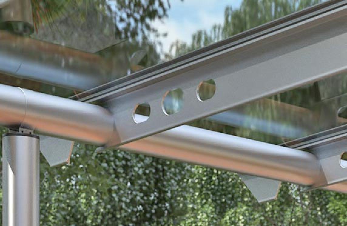 Alumínium vázas teraszfedés: Solarlux Anova üvegtető