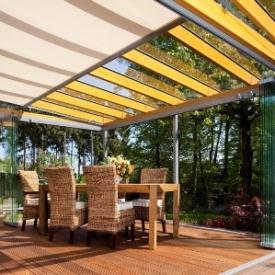Modern teraszbeépítések -Télikertek és üvegteraszok