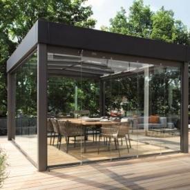 Bauhaus stílusú kerti pavilon üvegből- Atrium Carré